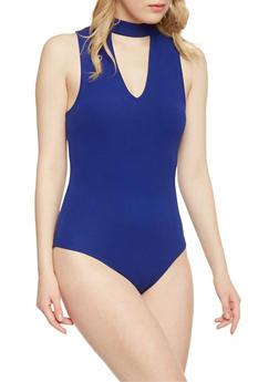 Sleeveless Keyhole Bodysuit - 1402054211603