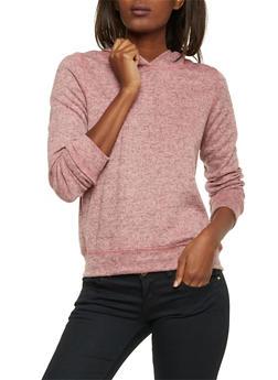 Hoodie in Marled Knit - 1402061351430