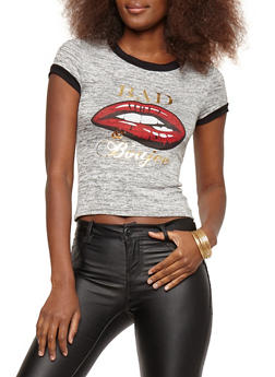 Marled Bad and Boujee Graphic T Shirt - 1402061353248