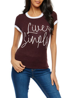 Live Simply  Graphic T Shirt - 1402061353634