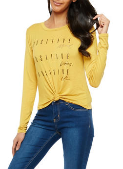 Positive Graphic Knot Front Top - 1402061359144
