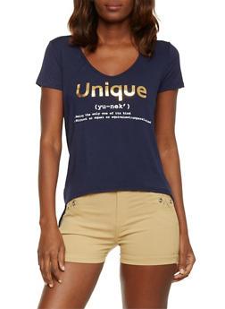Unique Graphic High Low T Shirt - 1402061359688