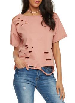 Laser Cut T Shirt - 1402061359692