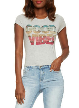Good Vibes Graphic T Shirt - 1402061359875