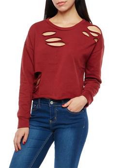 Ripped Sweatshirt - 1402066491200