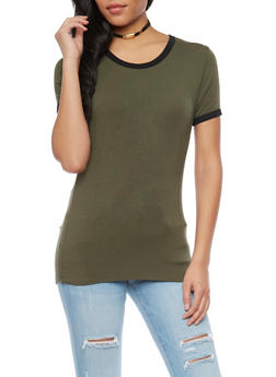 Basic Ringer T Shirt - 1402066491641