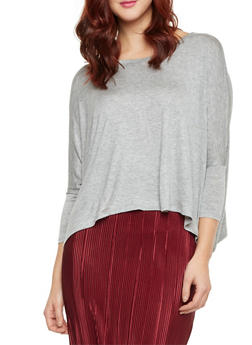 Knit Top with Dolman Sleeves - 1402066491683