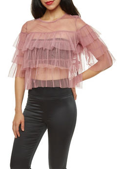 Tiered Tulle Top - 1402069391658