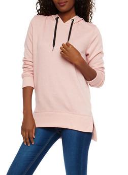 High Low Hooded Sweatshirt - 1402069395165