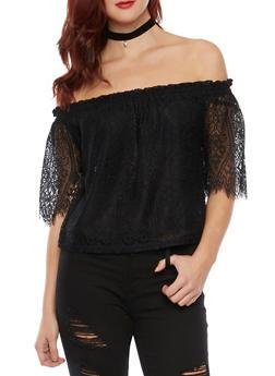 Off The Shoulder Top in Crochet - 1402069397902