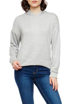 Fleece Lined Hooded Sweatshirt - 1402069399118