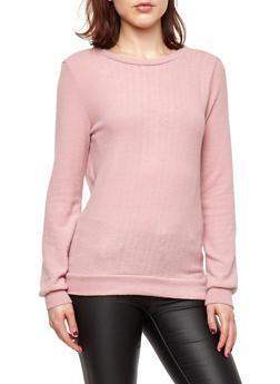 Soft Knit Tie Back Sweater - 1402069399191