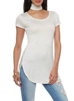Choker Shirttail Top - IVORY - 1402072246133