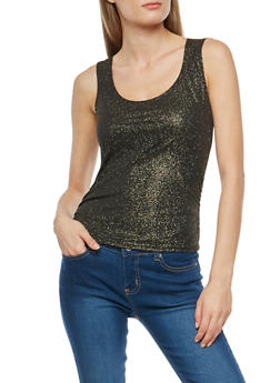 Shimmer Ruched Sleeveless Top - 1402072246596