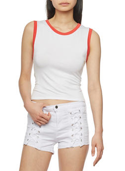 Ringer Muscle Tank Top - 1402073131018