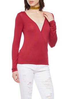 Solid Wrap Top - 1402073136910