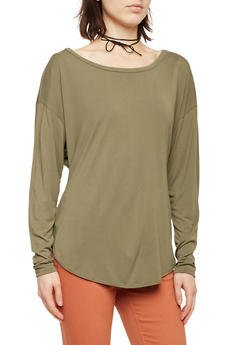 Solid Knit Dolman Sleeve Top - 1402073306031