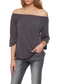 Solid Off the Shoulder Top - 1402073306044