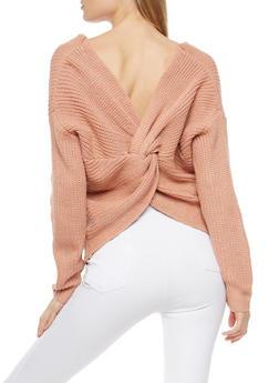 Twist Back Sweater - 1403069391494