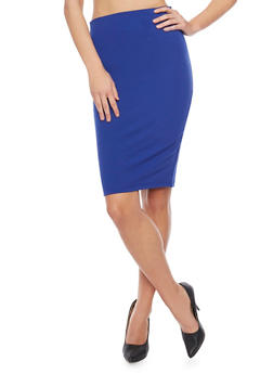 High Waisted Midi Pencil Skirt - 1406068190795