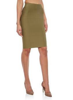 Bandage Pencil Skirt - OLIVE - 1406068191772