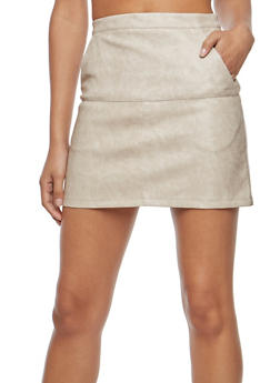 Faux Leather Mini Skirt - 1406068196025