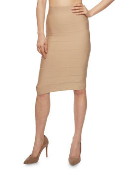 Bandage Midi Pencil Skirt - 1406068197098