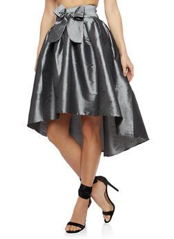High Low Taffeta Skater Skirt - 1406069390002