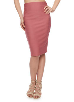 Midi Length Bandage Pencil Skirt - 1406069391044