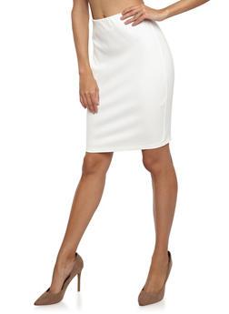 Ponte Pencil Skirt - 1406069391070