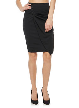 Twist Front Pencil Skirt - 1406069391089