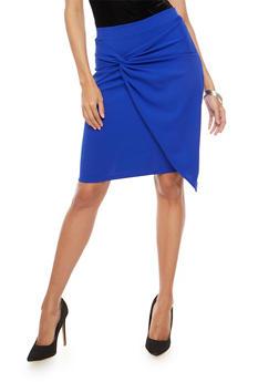 Twist Front Pencil Skirt - 1406069391089