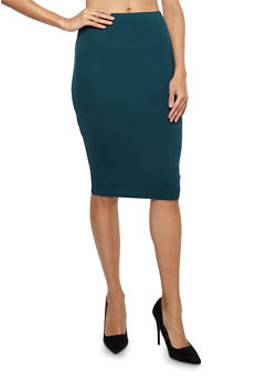 Soft Knit Pencil Skirt - 1406069391111