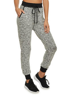 Plush Marled Knit Joggers - 1407066490570
