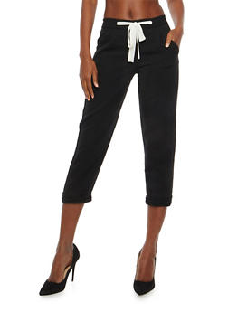 Cuff Leg Cropped Pants - 1407068193052