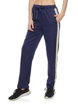 Varsity Stripe Track Pants - 1407068193053