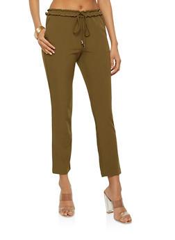 Smocked Waist Skinny Pants - 1407068193678
