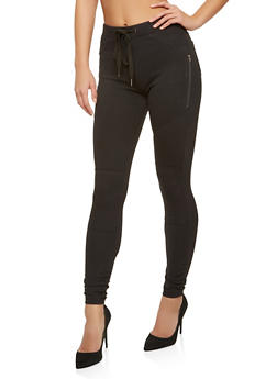 Ruched Stretch Pants - 1407068193750
