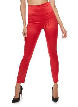 Satin Skinny Pants - 1407068514090