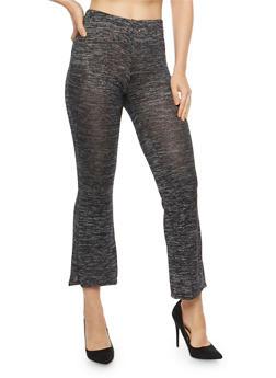 Marled Soft Knit Flared Pants - 1407072244541