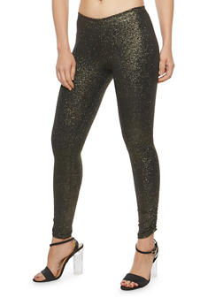 Glitter Knit Ruched Leggings - 1407072244651