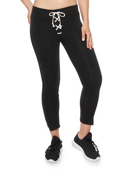 Lace Up Sweatpants - 1407072290187