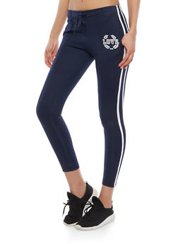 Love Graphic Side Stripe Joggers - 1407072291119