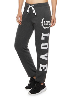 Joggers with Love Graphics - 1407072291161