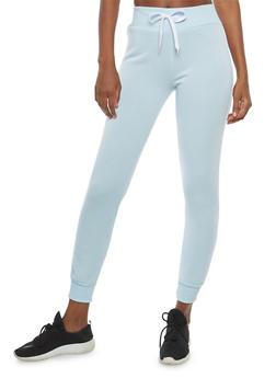 Fleece Lined Varsity Stripe Sweatpants - 1407072291226
