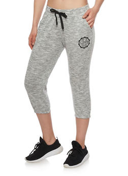 Love Graphic Capri Joggers - 1407072291371
