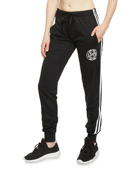 Varsity Stripe Love Graphic Joggers - 1407072291690
