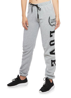 Joggers with Love Graphics - 1407072292161