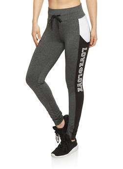 Love Graphic Active Leggings - 1407072296011