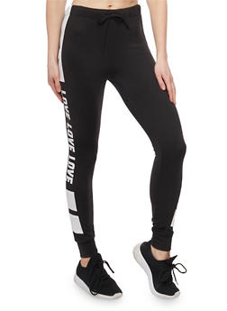 Love Graphic Active Joggers - 1407072297575